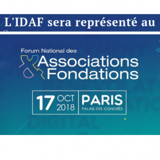 L'IDAF présent au Forum National des Associations et Fondations 2018 !