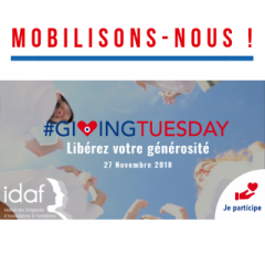 L'IDAF s'associe au Giving Tuesday France !