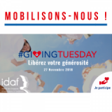 Giving Tuesday en France - L'IDAF relaie vos initiatives
